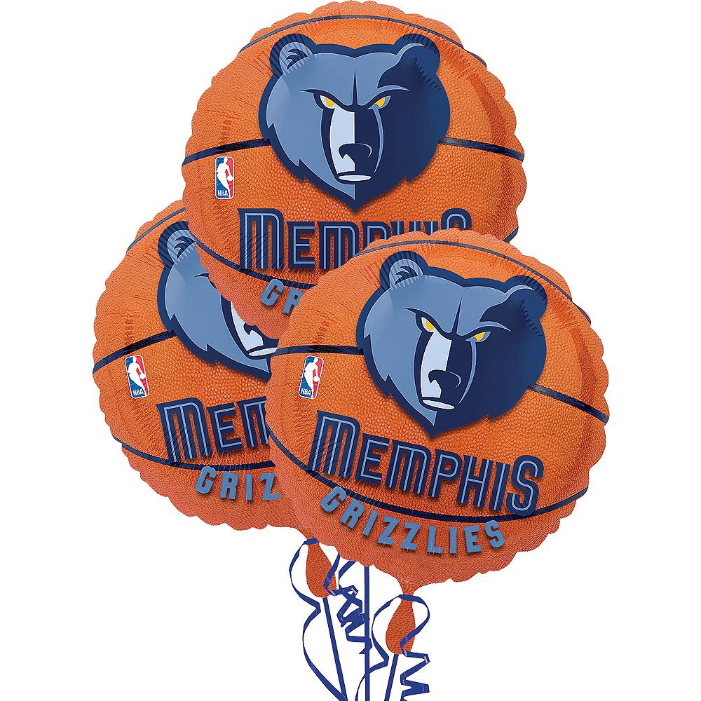 Memphis Grizzlies Balloons 3ct - Basketball Image #1