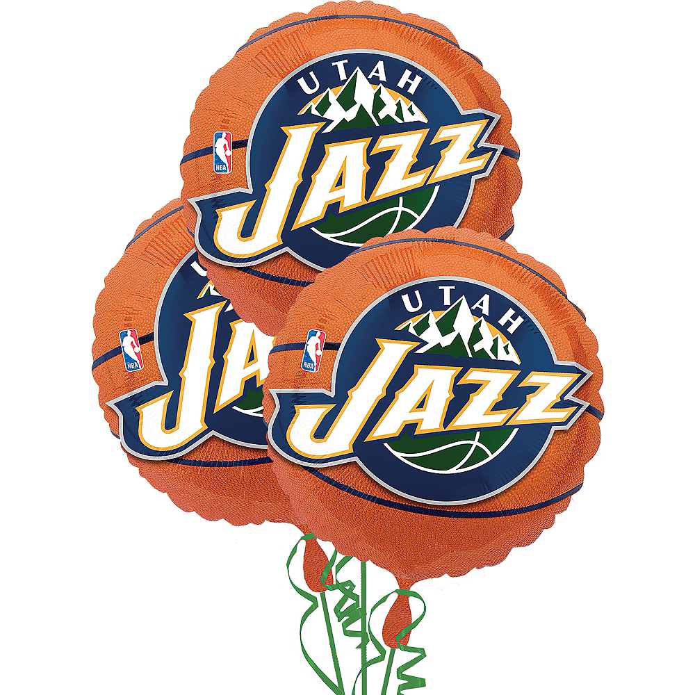 Utah Jazz Balloons 3ct - Basketball Image #1