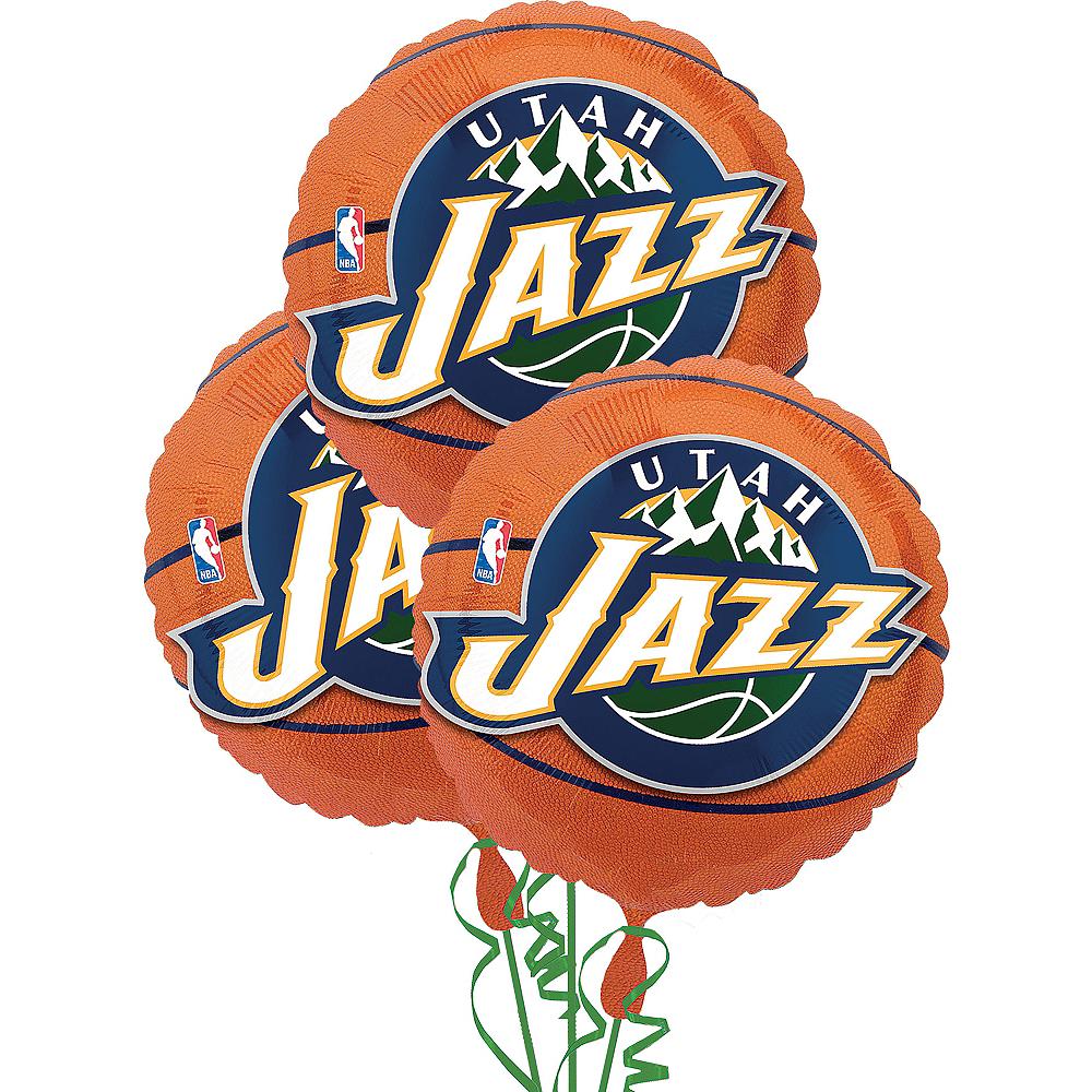 Utah Jazz Balloons 3ct - Basketball Image #1