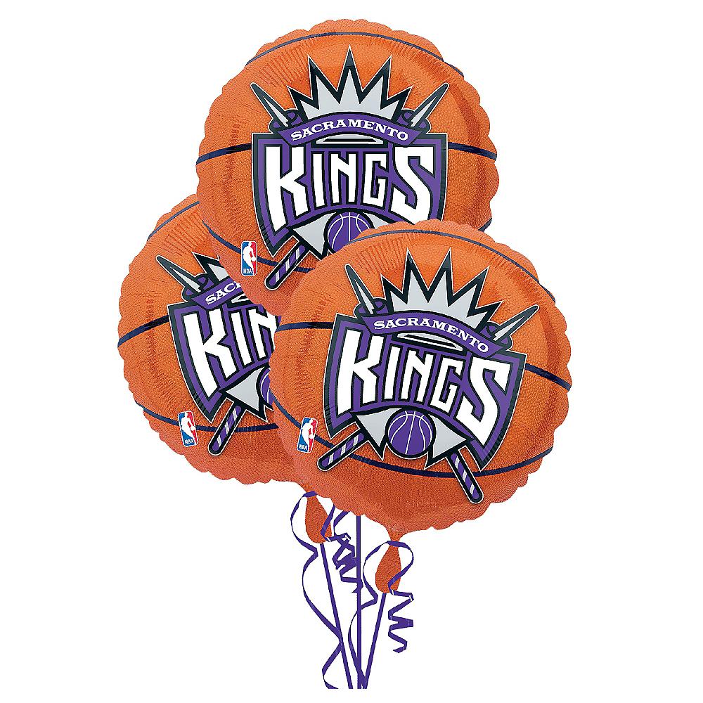 Sacramento Kings Balloons 3ct - Basketball Image #1