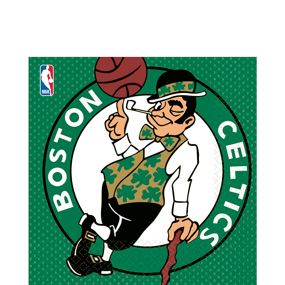 Boston Celtics Lunch Napkins 16ct Image #1