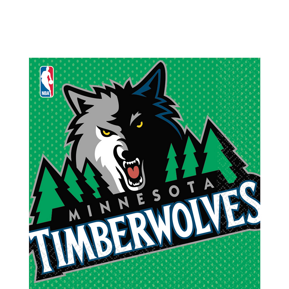 Minnesota Timberwolves Lunch Napkins 16ct Image #1