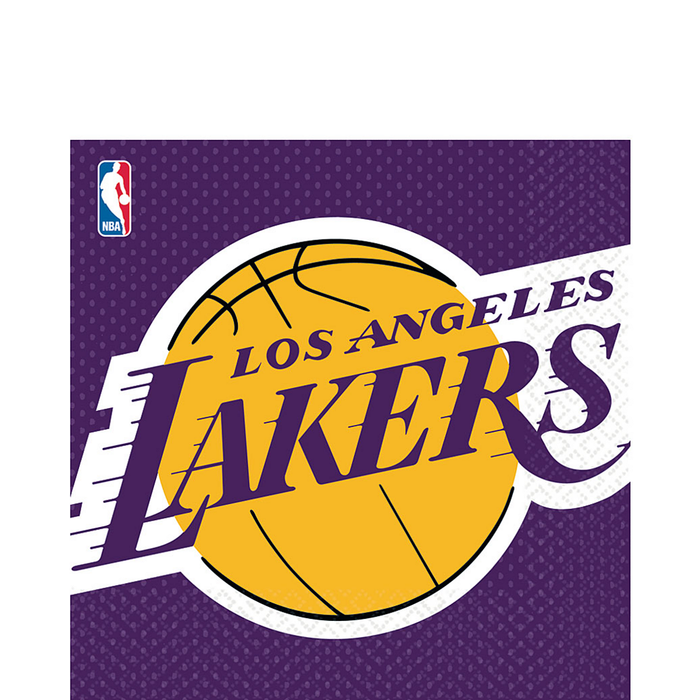 Los Angeles Lakers Lunch Napkins 16ct Image #1