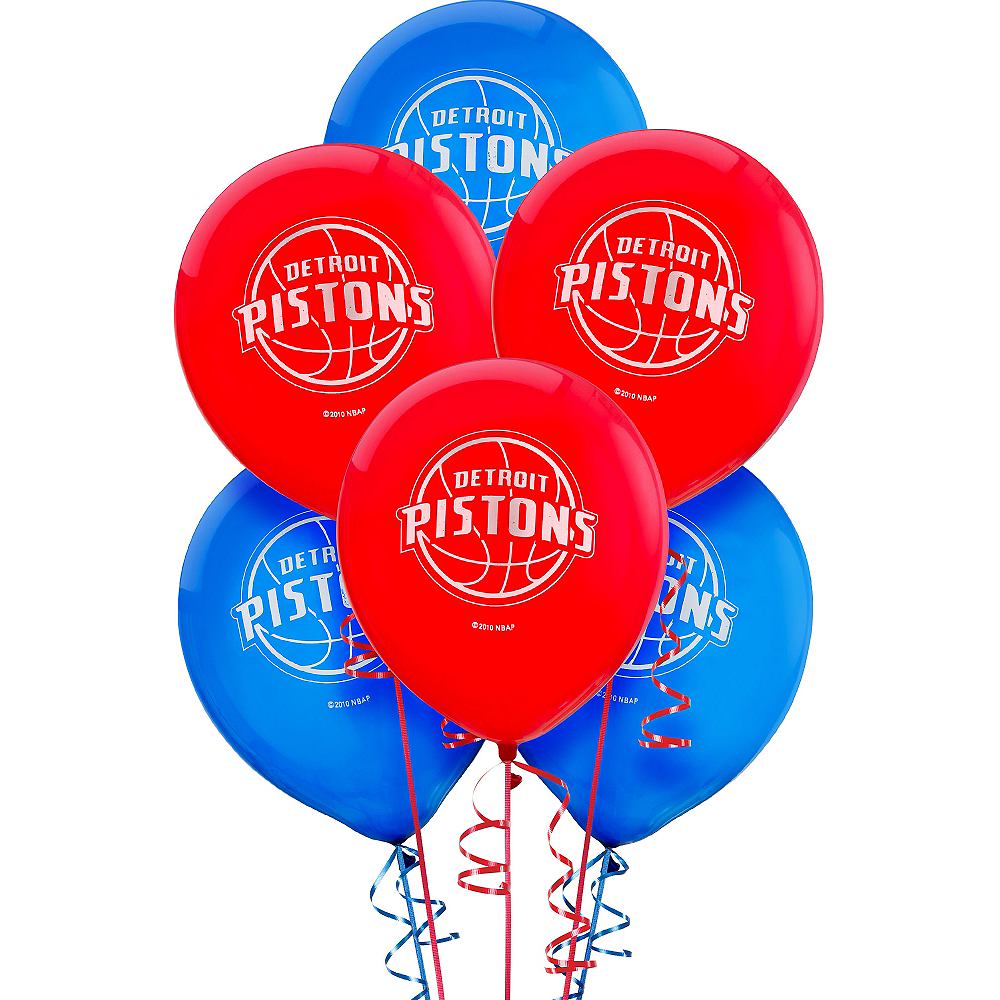 Nav Item for Detroit Pistons Balloons 6ct Image #1