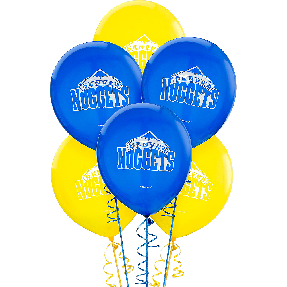 Denver Nuggets Balloons 6ct Image #1
