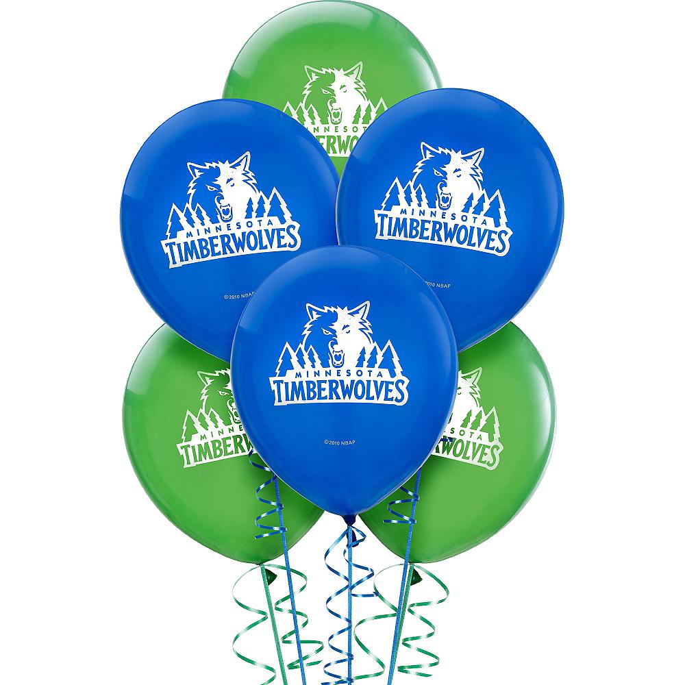 Minnesota Timberwolves Balloons 6ct Image #1