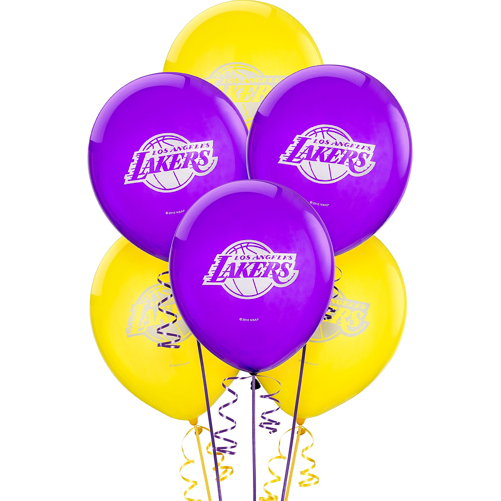 Los Angeles Lakers Balloons 6ct Image #1