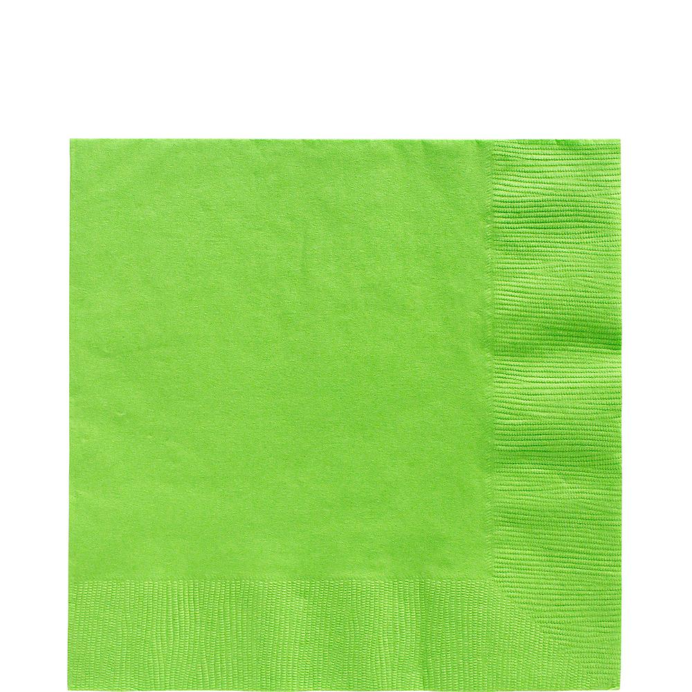 Kiwi Green Lunch Napkins 50ct Image 1