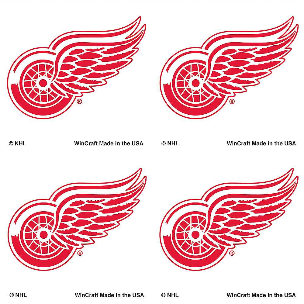 Detroit Red Wings Face Tattoos 4ct Image  1 6c46bb7771