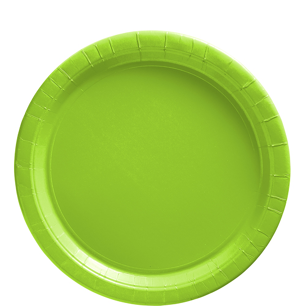 Kiwi Green Paper Lunch Plates 20ct Image #1