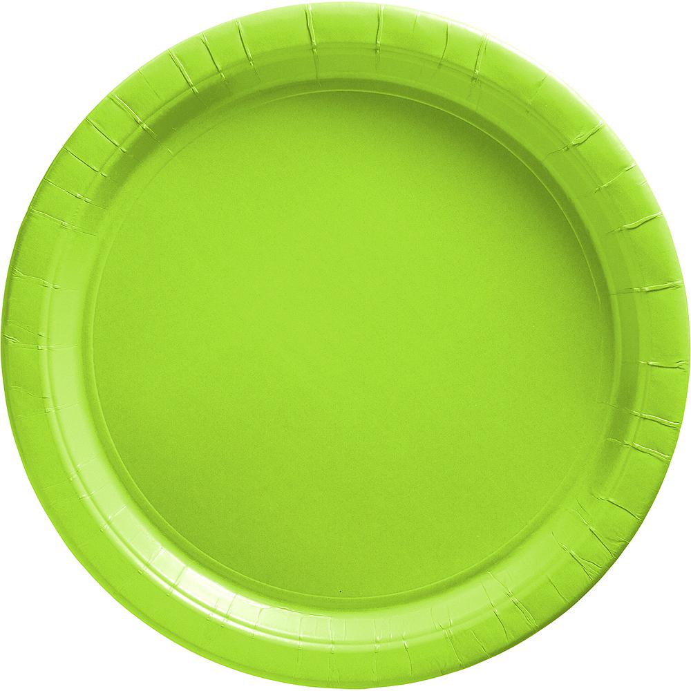 Kiwi Green Paper Dinner Plates 20ct Image #1