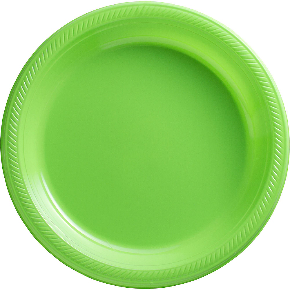 Kiwi Green Plastic Dinner Plates 20ct Image #1