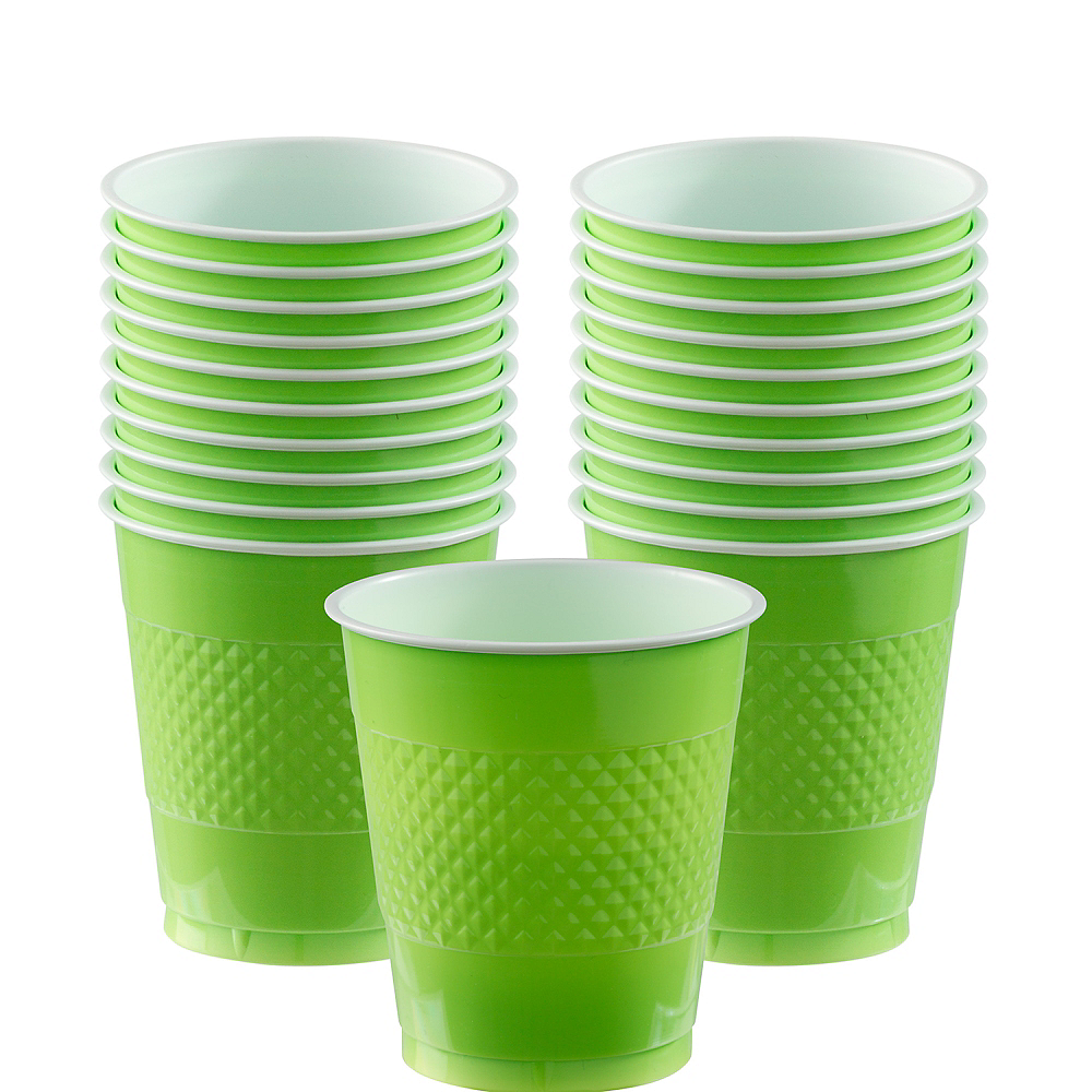 Kiwi Green Plastic Cups 20ct Image #1