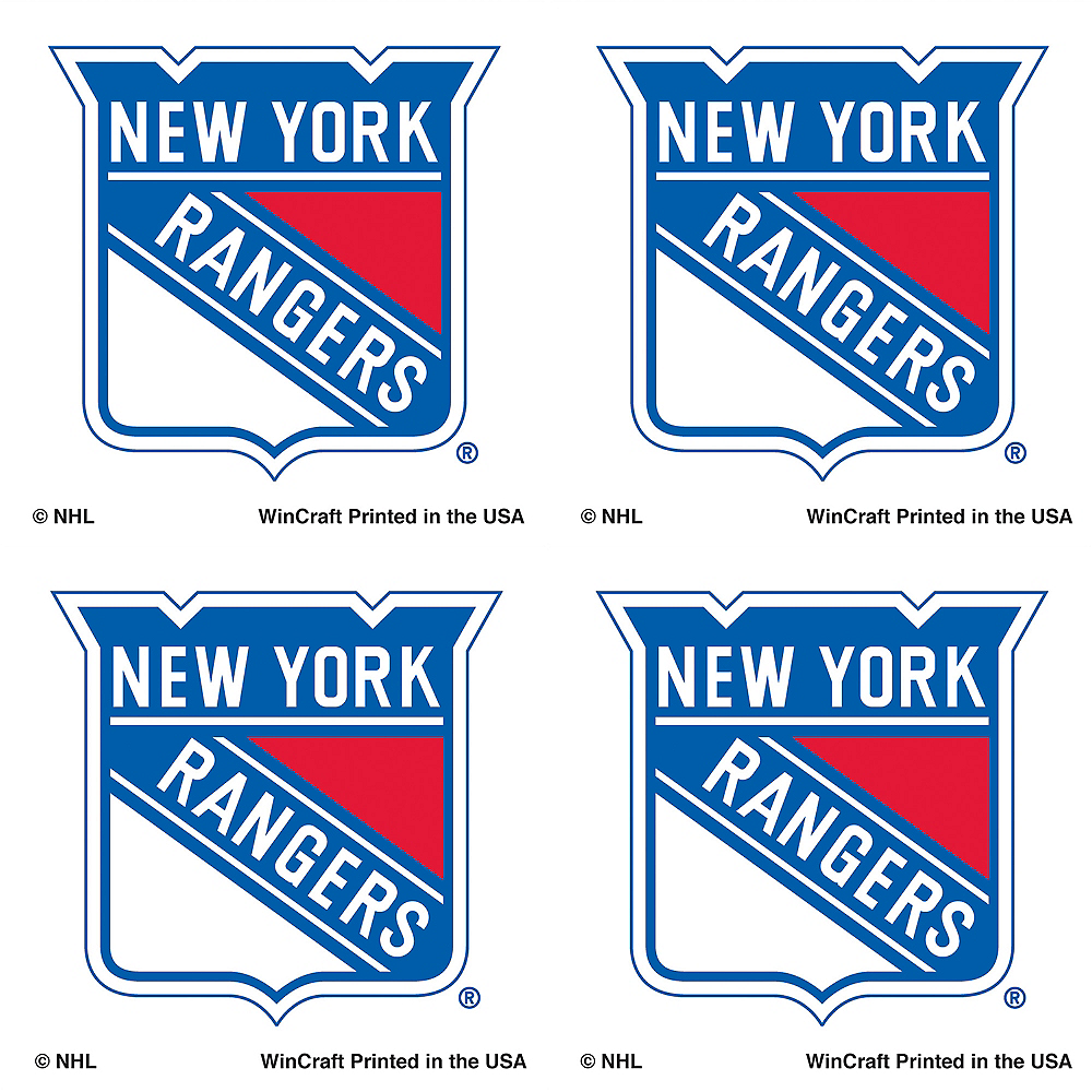 New York Rangers Face Tattoos 4ct Image #1