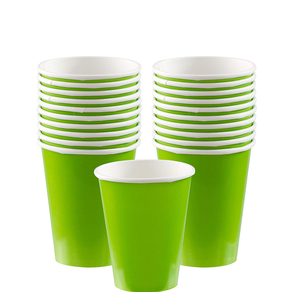 Kiwi Green Paper Cups 20ct Image #1