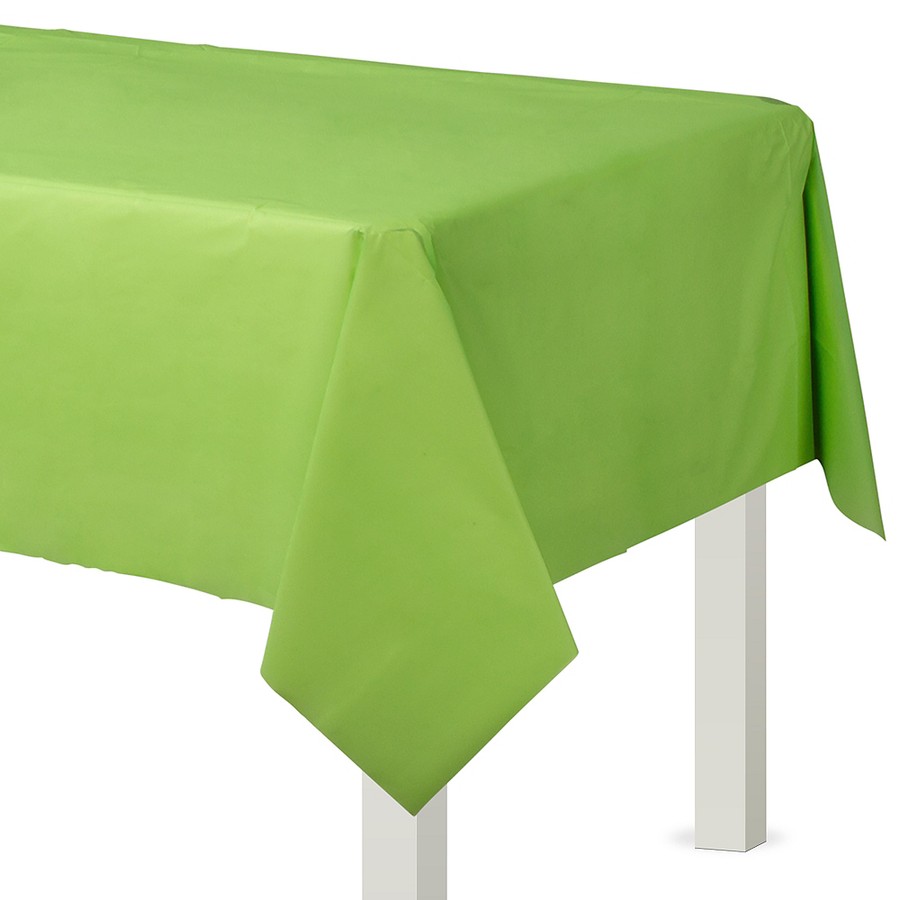 Kiwi Green Plastic Table Cover Image #1