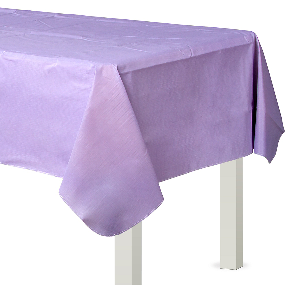Lavender Flannel-Backed Vinyl Tablecloth Image #1