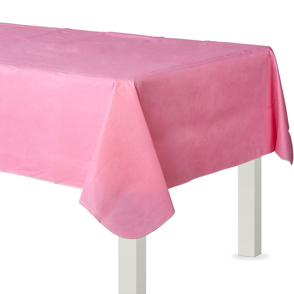 Pink Flannel-Backed Vinyl Tablecloth Image #1