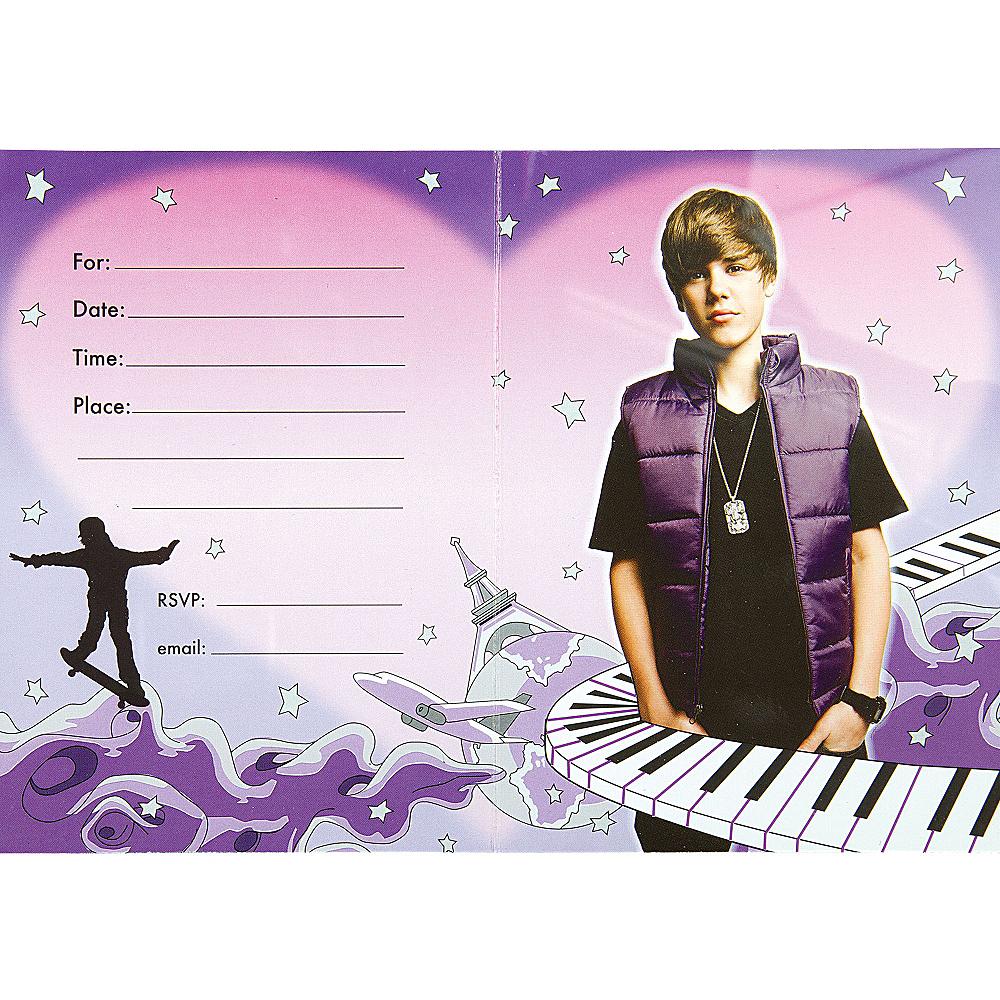 Justin Bieber Invitations 8ct Image #2