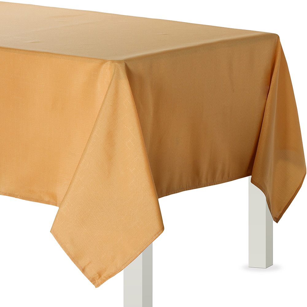 Gold Fabric Tablecloth 60in X 84in Party City