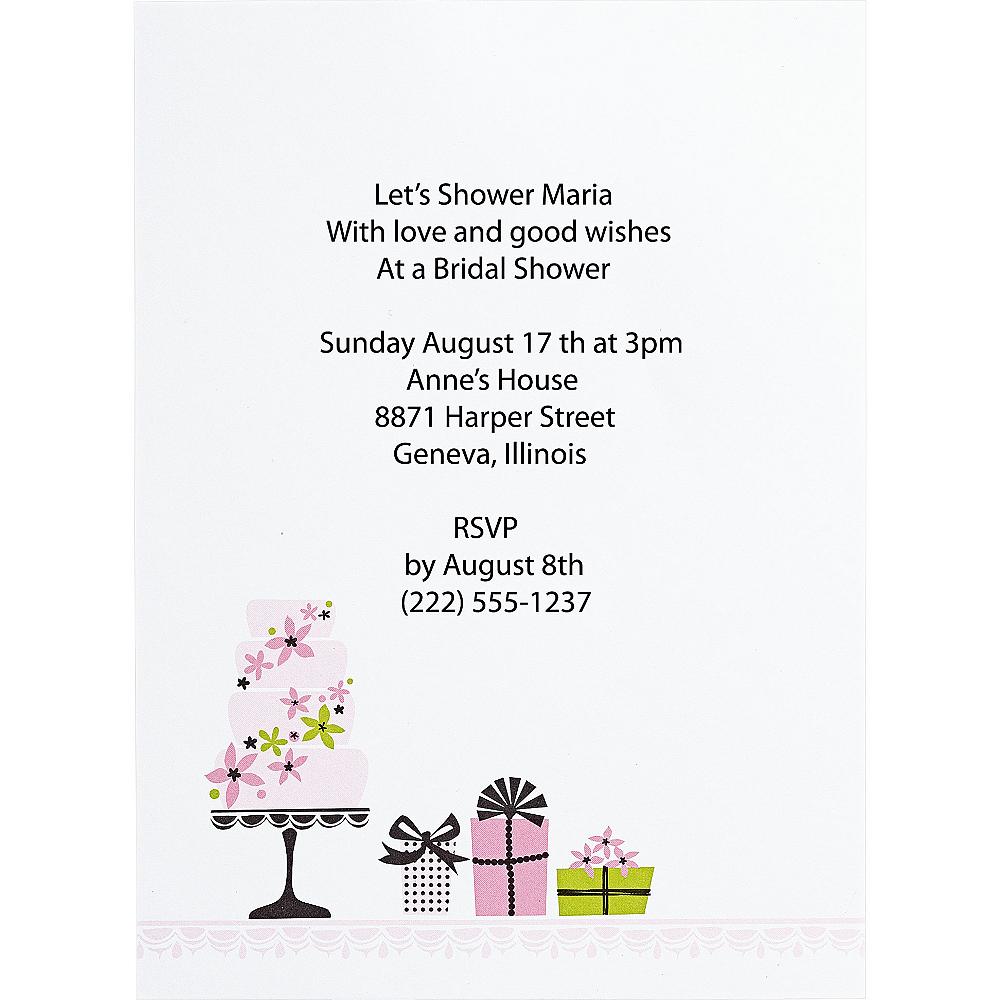 Enchanted Cake Printable Bridal Shower Invitation Kit 12ct | Party City