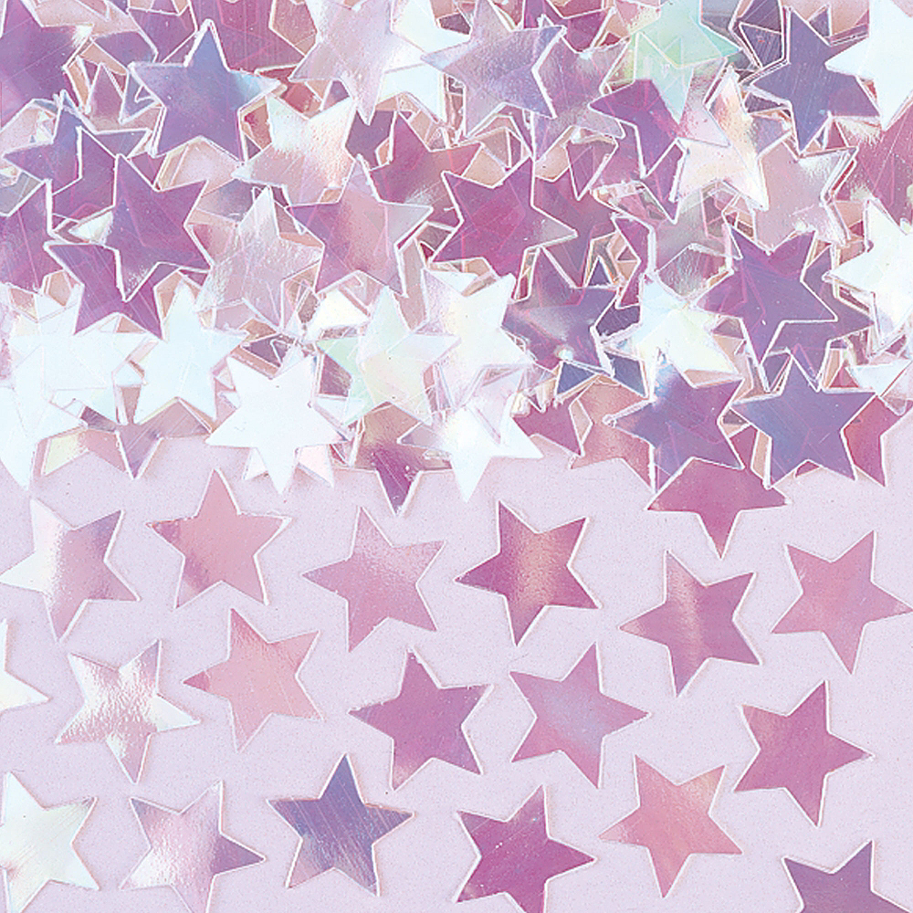 Mini Iridescent Star Confetti Image #1