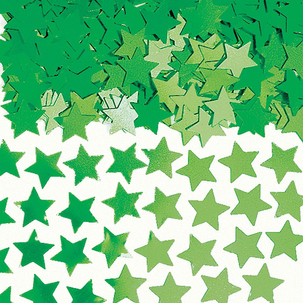 Mini Festive Green Star Confetti Image #1