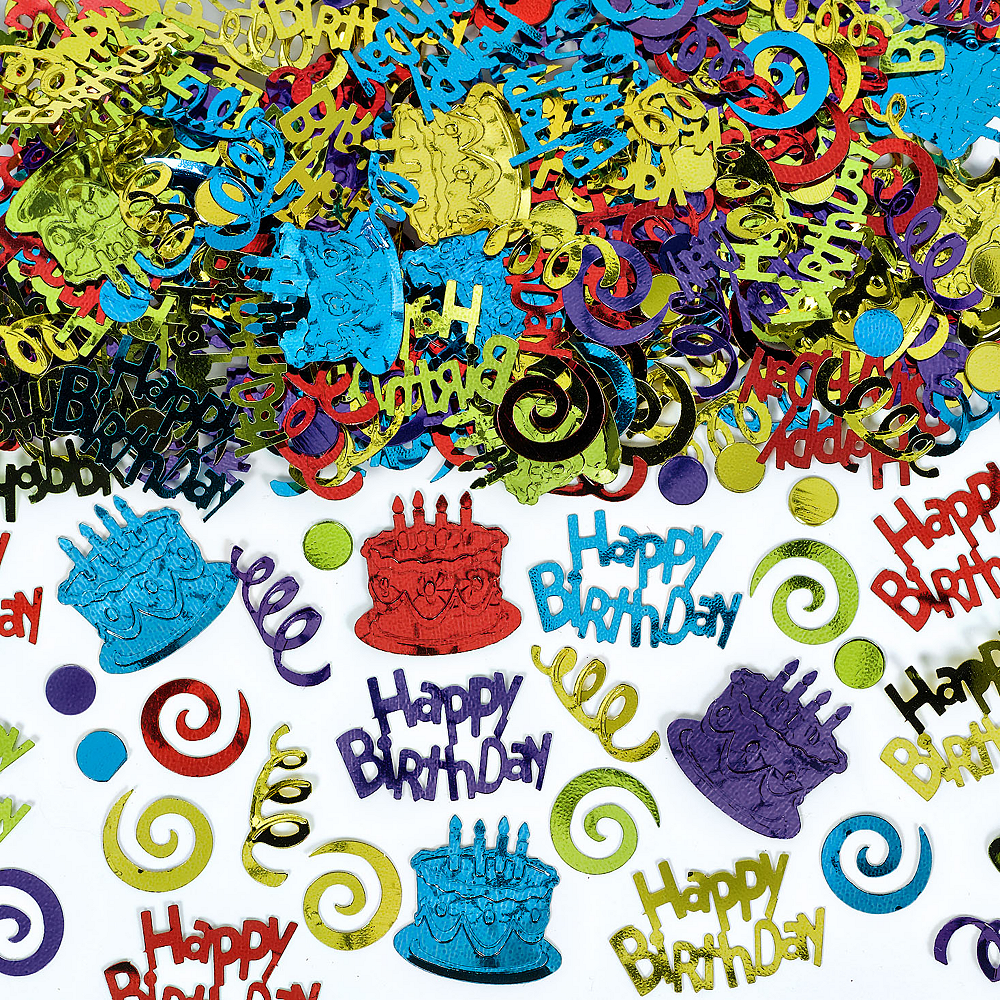 Multicolor Happy Birthday Confetti Image #1