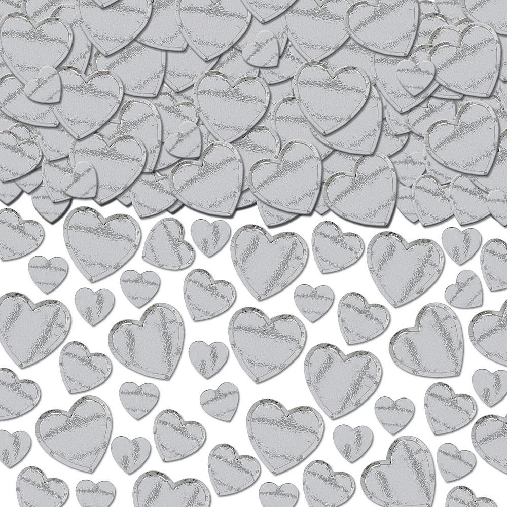 Silver Heart Confetti Image #1