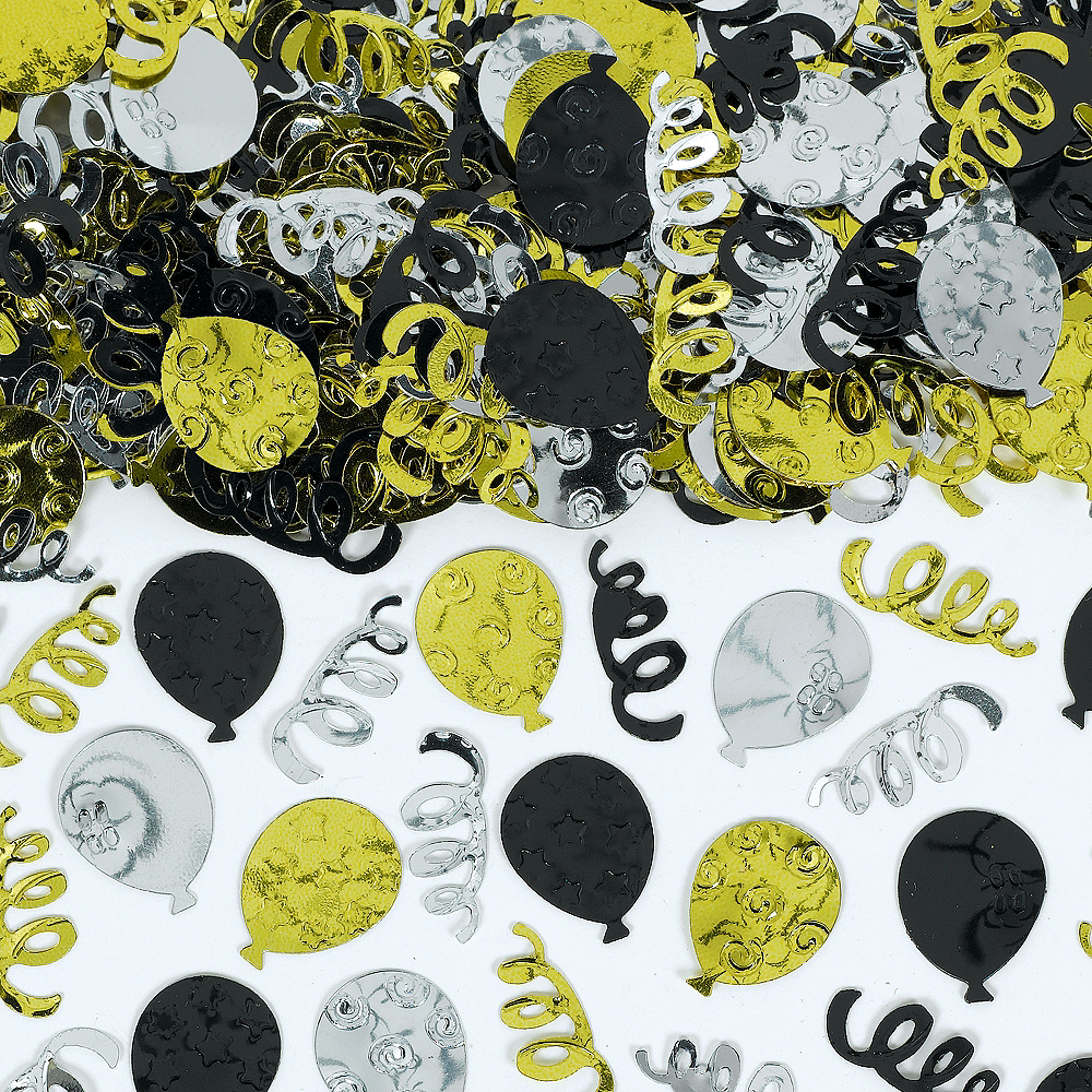 Nav Item for Black, Gold & Silver Party Confetti Image #1