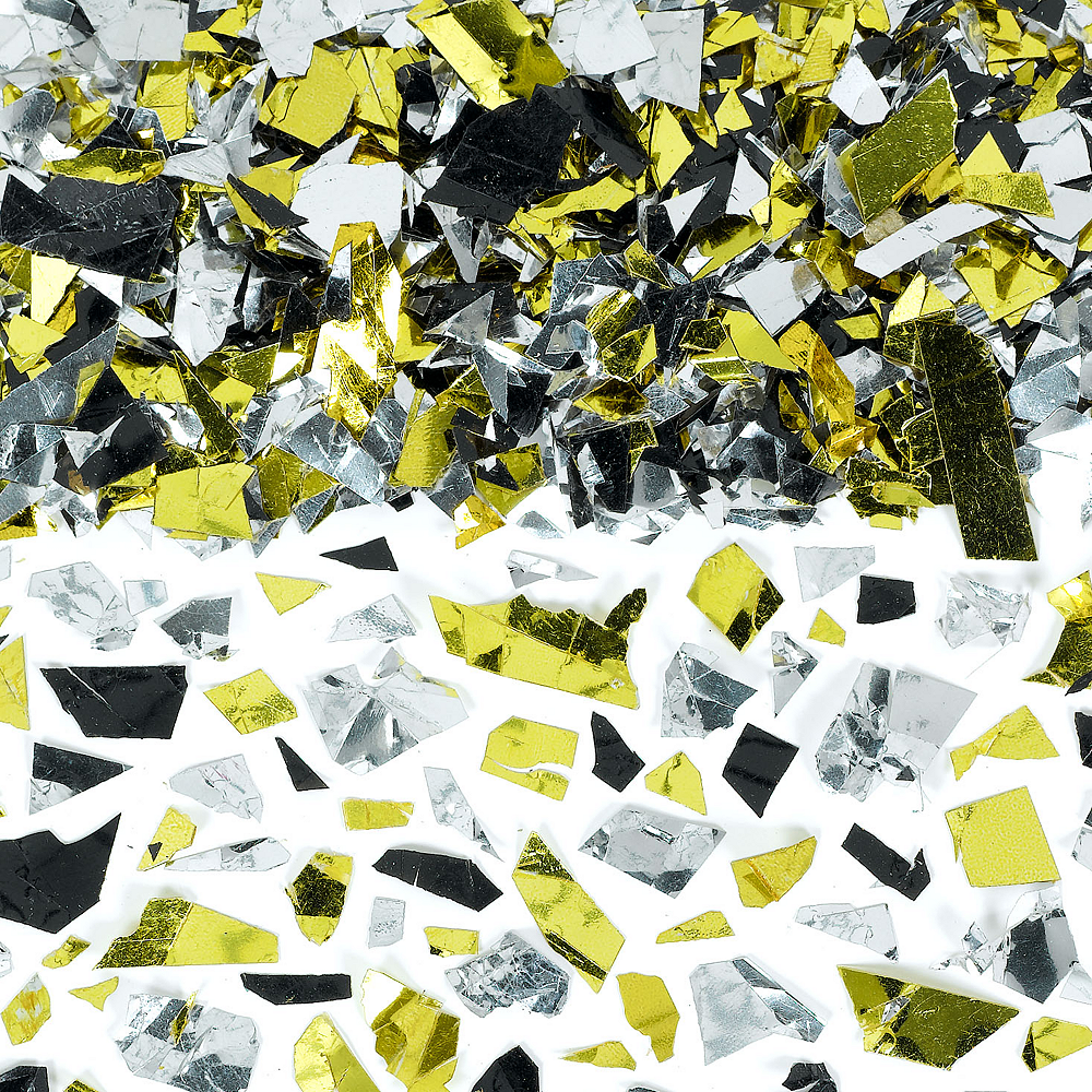 Nav Item for Black, Gold & Silver Sparkle Confetti Image #1
