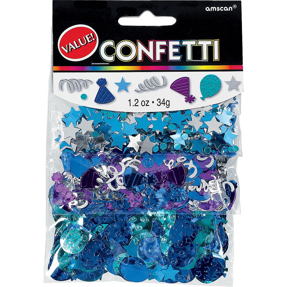 Royal Blue Birthday Confetti Image #1