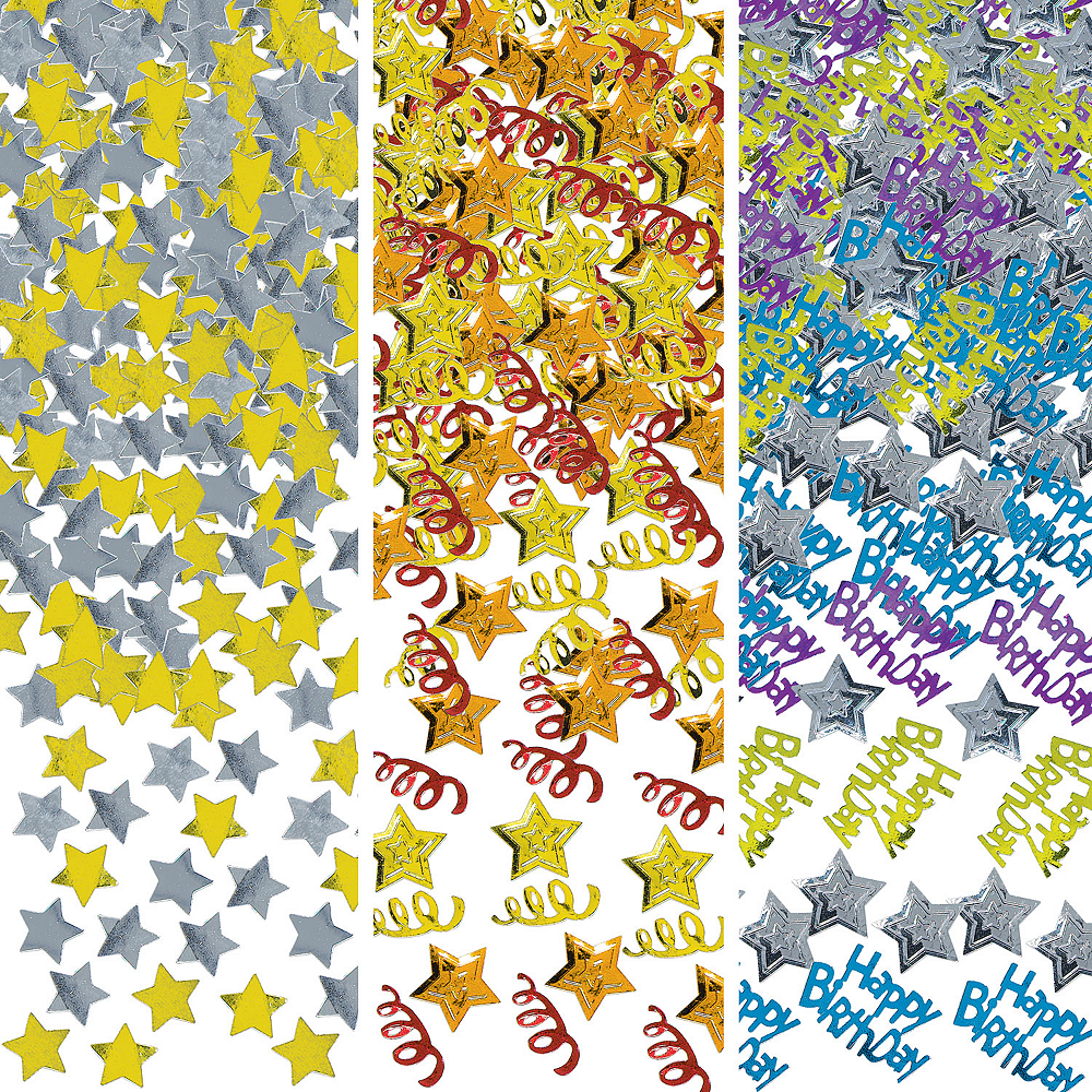Rainbow Happy Birthday Confetti Image #1