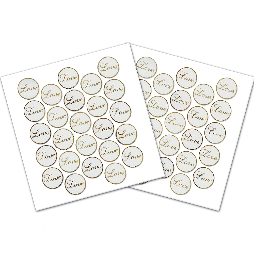 Nav Item for Gold Love Sticker Seals 50ct Image #1