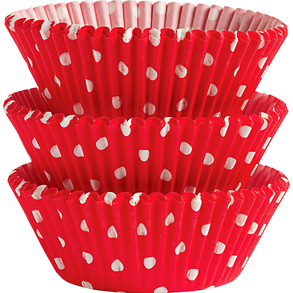Nav Item for Wilton Red Polka Dot Baking Cups 75ct Image #1