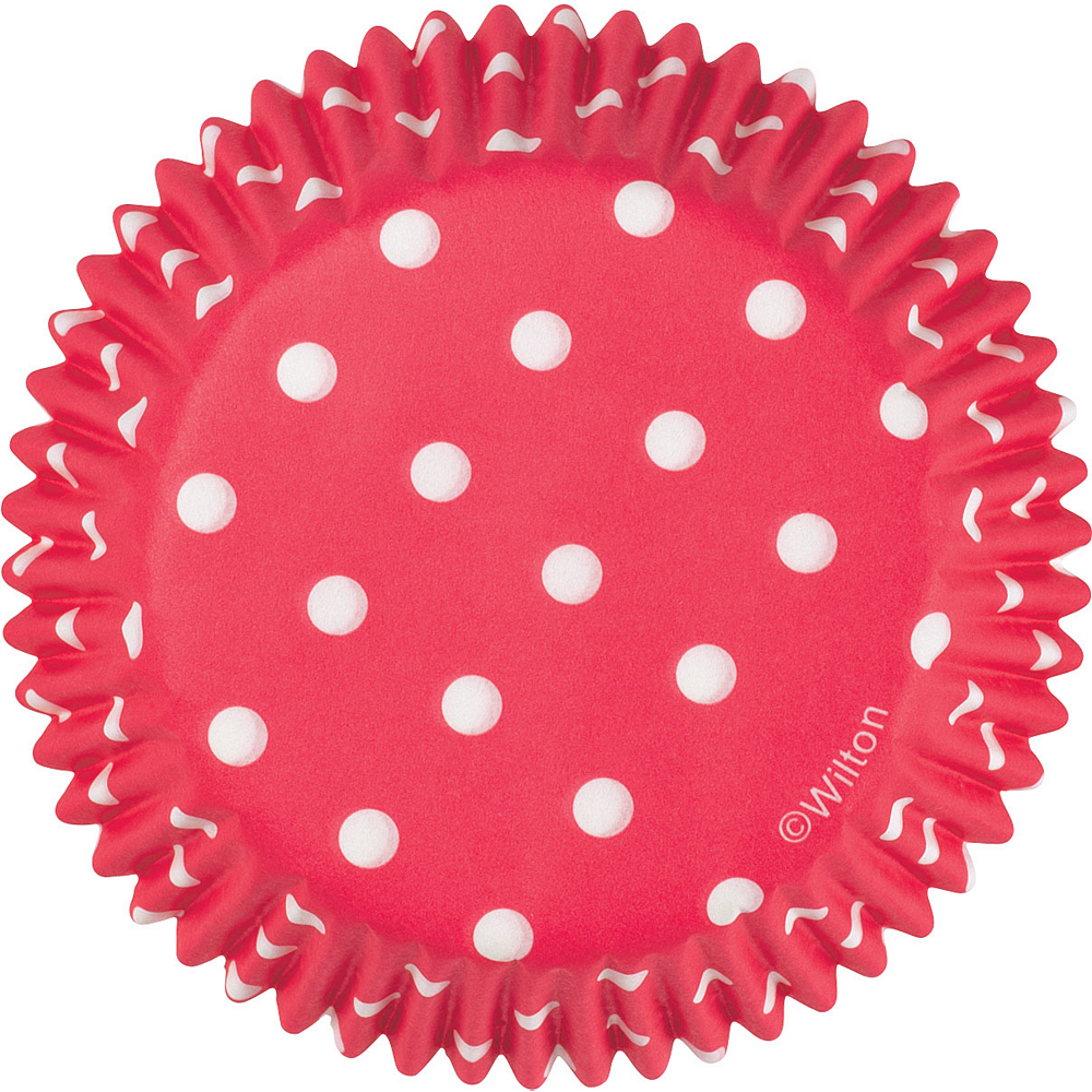 Nav Item for Wilton Red Polka Dot Baking Cups 75ct Image #2