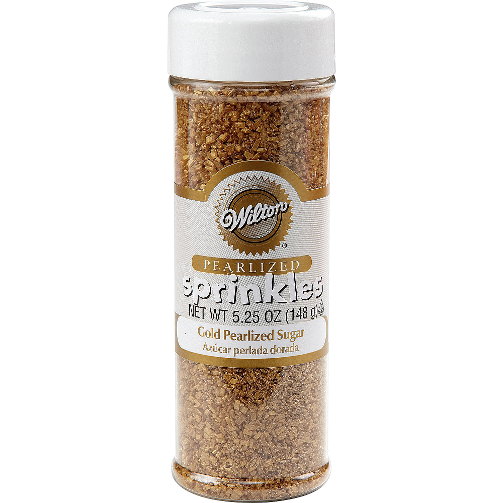 Wilton Gold Sugar Sprinkles 5.25oz Image #1