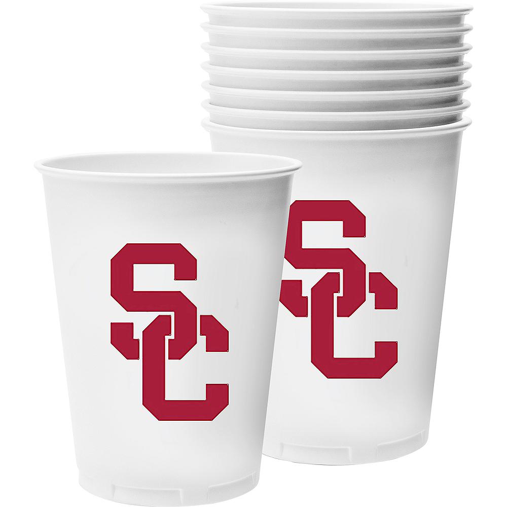 USC Trojans Plastic Cups 8ct Image #1
