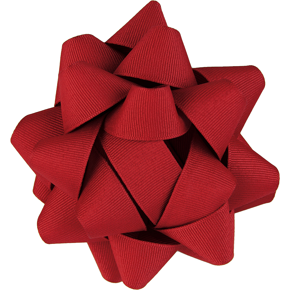 Red Grosgrain Gift Bow Image #1