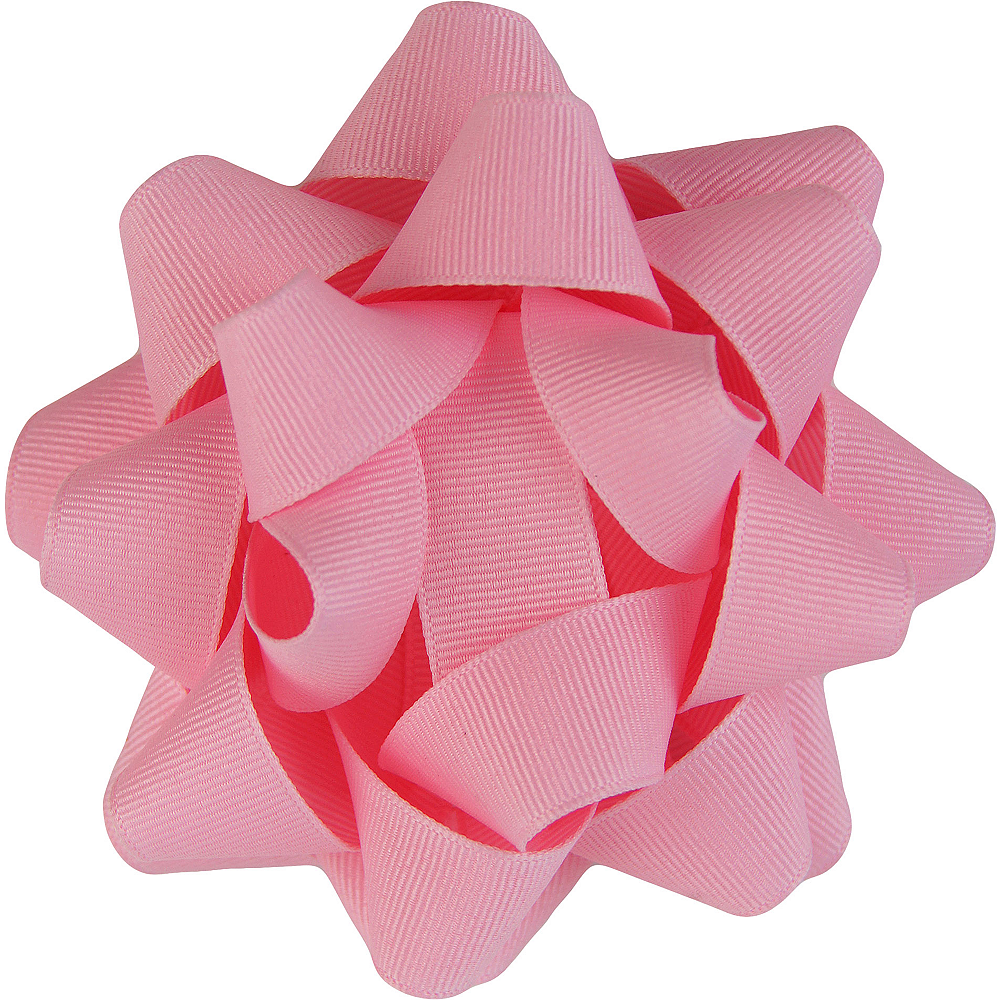 Nav Item for Pink Grosgrain Gift Bow Image #1