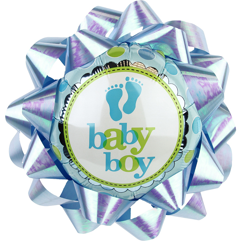 Baby Boy Balloon Gift Bow Image #1