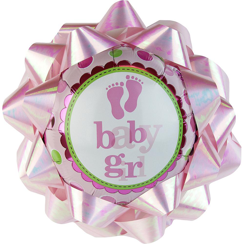 Baby Girl Balloon Gift Bow Image #1