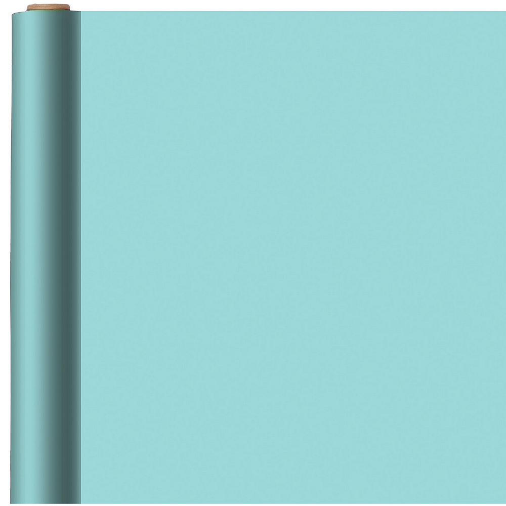 Jumbo Solid Robin's Egg Blue Gift Wrap Image #1