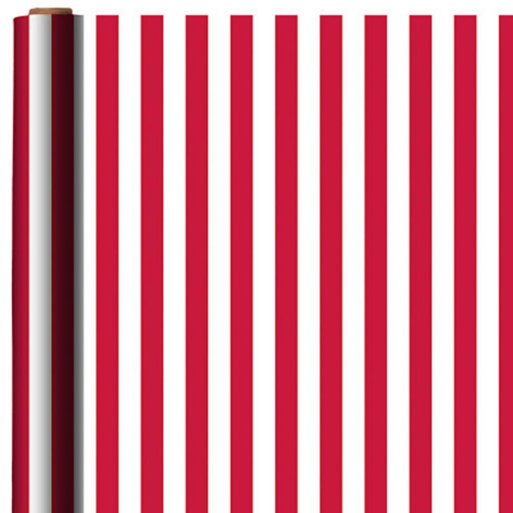 Jumbo Apple Red Striped Gift Wrap Image #1
