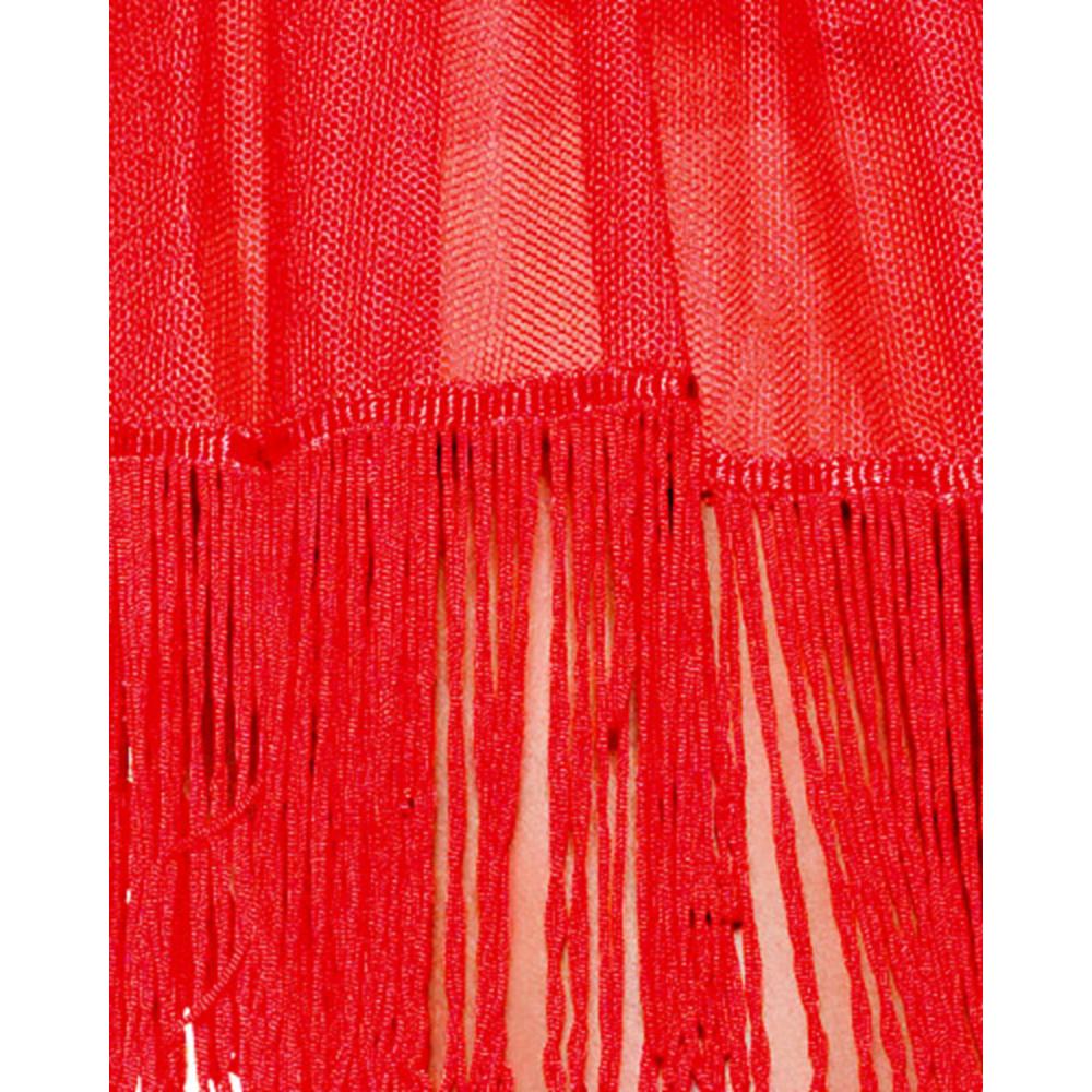 Adult Red Fringe Petticoat Image #2
