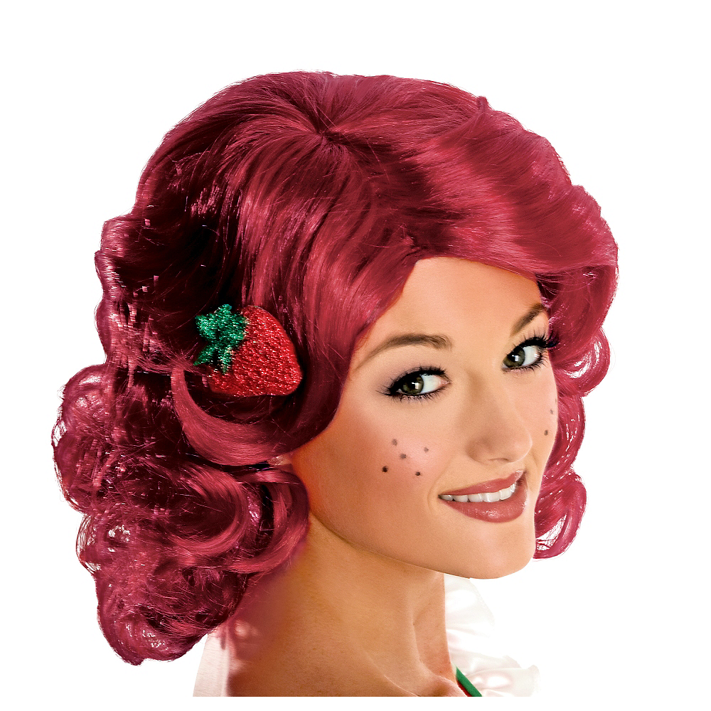 Adult Strawberry Shortcake Wig Deluxe Image #1