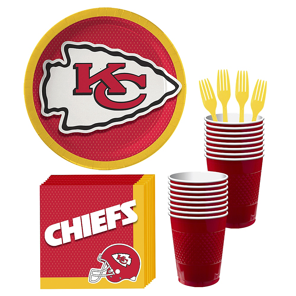 Kansas City Chiefs Party Kit for 18 Guests Image #1