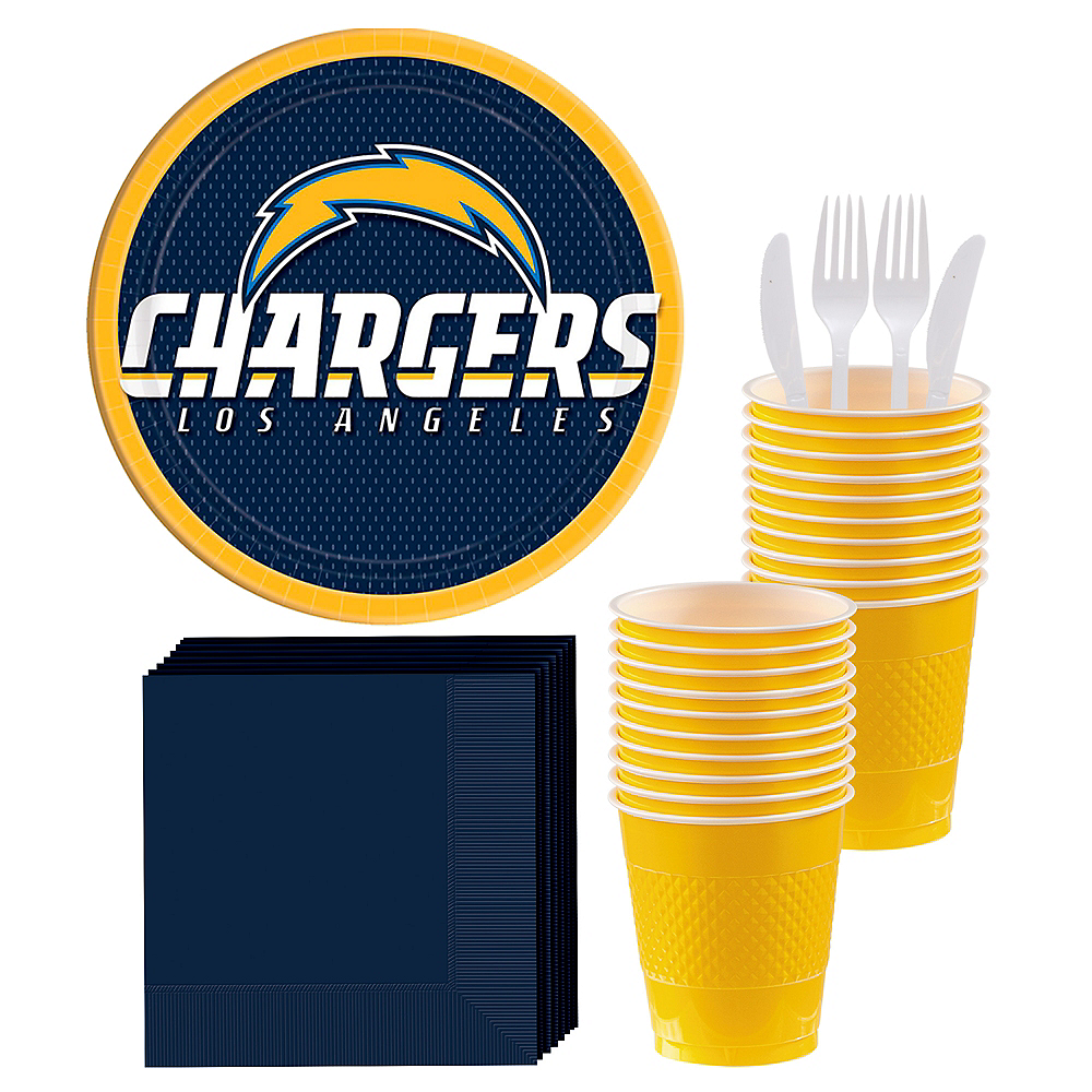 Los Angeles Chargers Party Kit for 18 Guests Image #1
