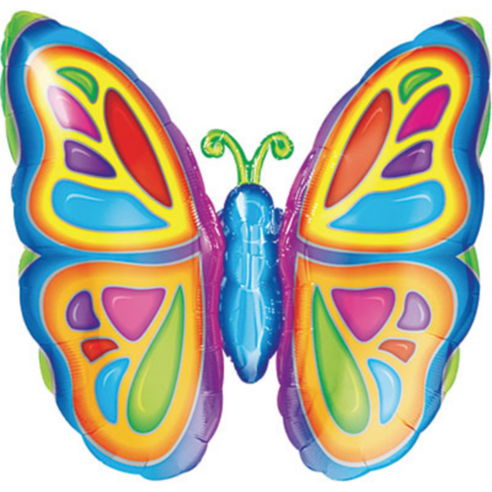 Bright Butterfly Balloon, 25in Image #1