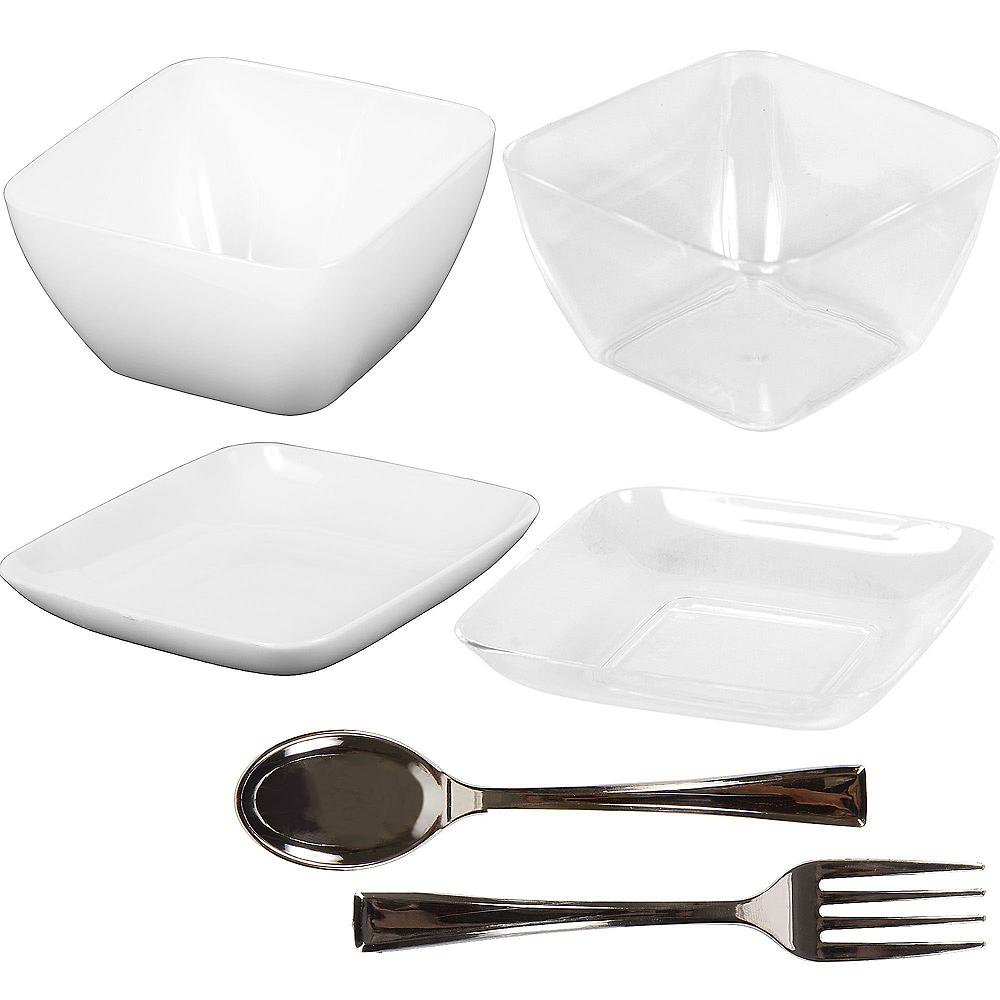 Mini Plastic Appetizer Set 96pc Image #1